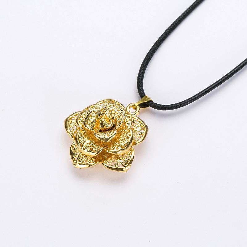 2019 Whole Sale2017 Hot Fashion Gold Color Rose Flower Pendant