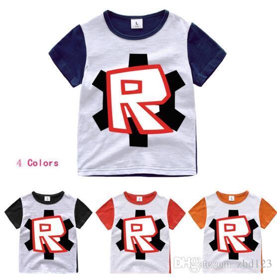 Fête des enfants T-shirt pour garçons Filles Tops T-shirts Dessin animé cinq nuits chez freddy's Tshirt Vêtements pour enfants ROBLOX RED NOSE T-shirt pour la journée