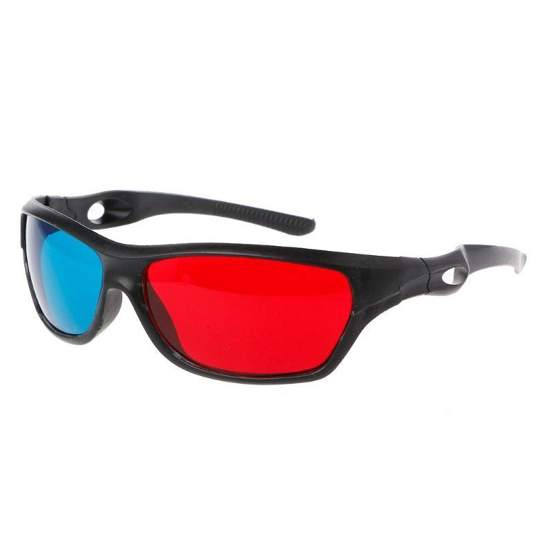 Óculos 3D Anaglyph 3D azul branco quadro vermelho para filme jogo DVD Video TV
