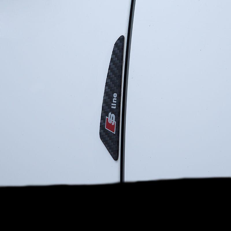 탄소 섬유 자동차 도어 프로텍터 Audi 용 충돌 방지 스트립 사이드 스티커 A1 A4 A5 A3 A6 A8 A7 Q3 Q5 Q7 80 C5 C6 C7 TT B1 B2 B3 B4 B5 B6