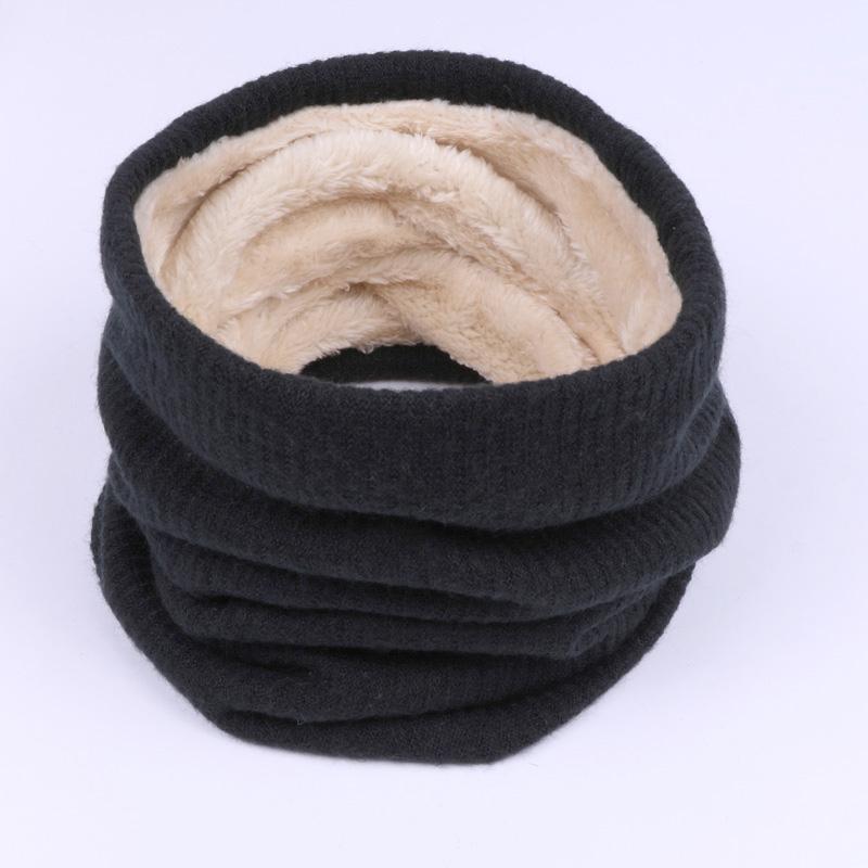 Bufanda Pañuelo de Invierno de moda Mujeres Color Sólido Engrosado Bufandas de Algodón Hombres Niños Cuello Bufanda Unisex