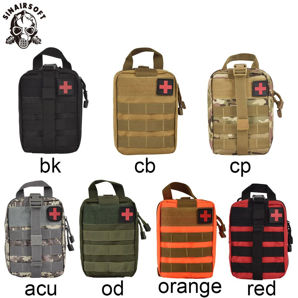 SINAIRSOFT Outdoor Tactical Medical First Aid Kit IFAK Utility Pouch Emergency Bag For Vest & Belt Treatment Waist Pack EMT Multifunctional