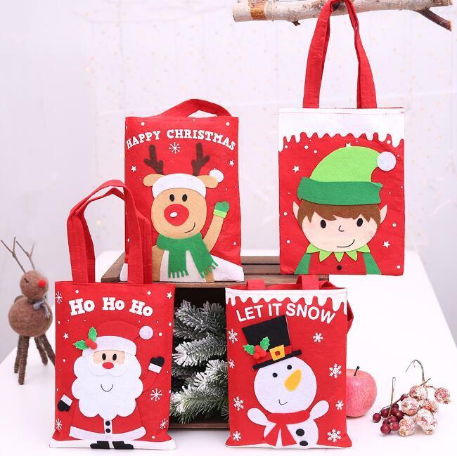 Bonito saco de presentes de doces de Natal Véspera de natal apple bags Xmas enfeites de árvore de decoração de Natal fontes do partido em casa