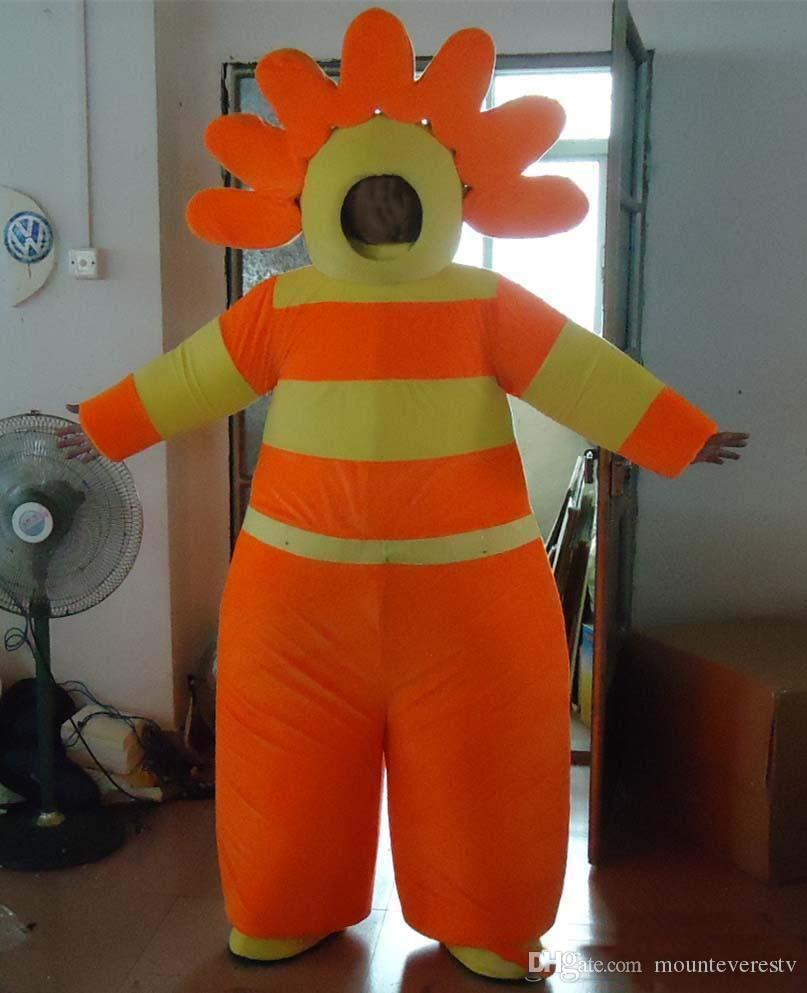 Lovely Sun Flower adult mascot costume fancy dress suit any size high quality