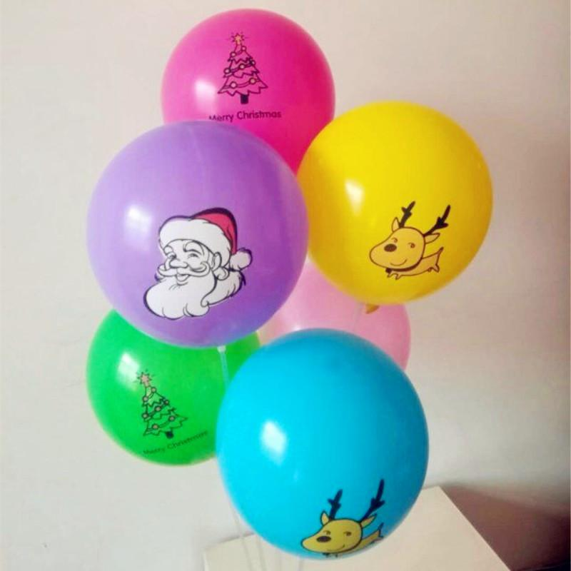 Supply baloons 50pcs/lot12 inch 2.8g round latex Christmas balloons decoration holiday inflatable helium ballon kids toys hot