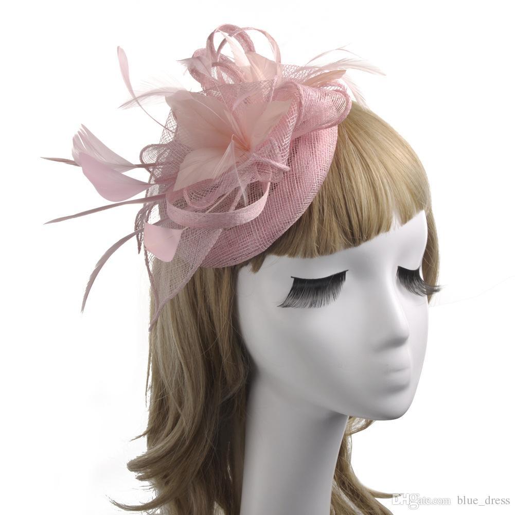 2020 Feather delle donne Cappelli Tulle per la festa nuziale di occasione speciale di Tulle eleganti per donna Cappelli delle signore Accessori per la vendita all'ingrosso