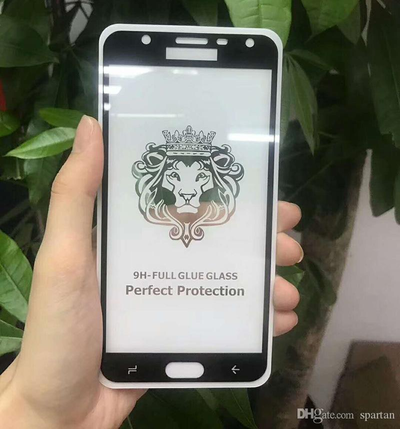 For iPhone 12 11 pro max XR X Full Glue Tempered Glass 9H Full Coverage Screen Protector iPhone 7 8 Plus Samsung S21 S21 Plus Note 20 S