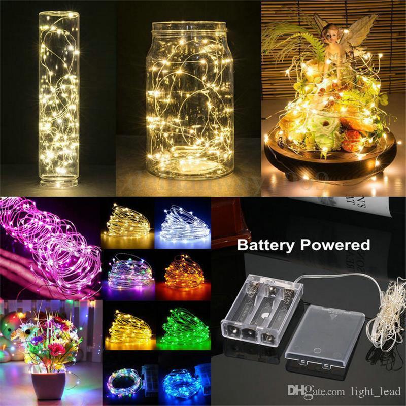 1M 2M 3M 5M 10M LED سلسلة الأنوار تشغيل البطارية الصمام الأسلاك النحاسية الديكور النجوم الجنية ضوء عطلة ضوء الزفاف