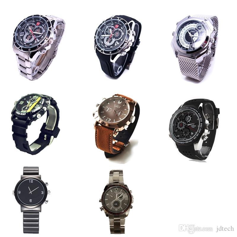 Multi Styles Mini 1080P 8GB HD Watch Micro Camera Waterproof Wristwatch DVR Night Vision Mini Cam Video Recorder Portable Camcorder