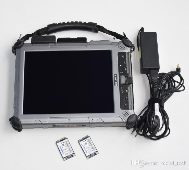 2in1 mini SSD for SD connect C4 c5 For BMW ICOM A2 B C with Rugged Xplore IX104 Tablet I7&4gb