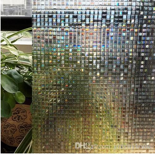 CottonColors Window Privacy Films No-Glue 3D Static Decorative Film, Window Glass Stickers Size 60 x 200cm