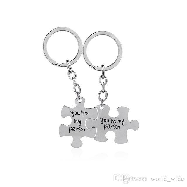 Greys Anatomisi anahtar yüzükler 2 Siz My Person anahtar zincirleri set Severler Best Friend zincir araç tutucu anneler günü Hediyesi için anne