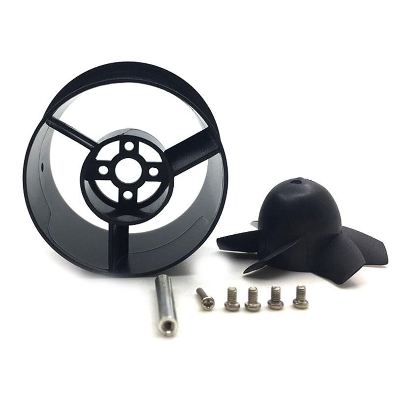 3 set 100% QX-MOTOR Brand New 55mm EDF Kit con Ventola Rotore + Alloggiamento canalizzato + Adattatore per 2.3mm Brushless Motor RC modello di aeroplano Parti