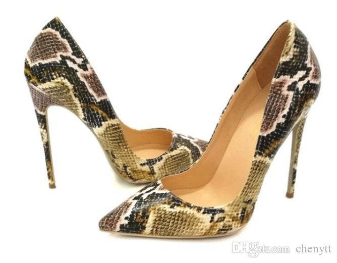 تصدير التجارة الخارجية 2018 النساء مضخات مثير نمط الثعبان الأحذية ، وأشار الأحذية واحدة والأحذية أحذية عالية الكعب.