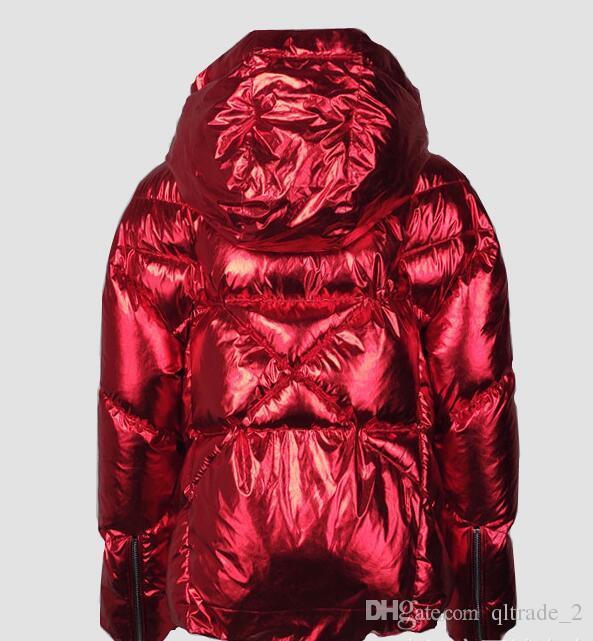 Großhandel Mode Qltrade Rot Stil 67 Dhgate 2173 Auf Daunenmantel Kapuze De Mit Frauen Daunenjacken Von ComDhgate Damen Dicke Metallic Kurze VpGzqUSM