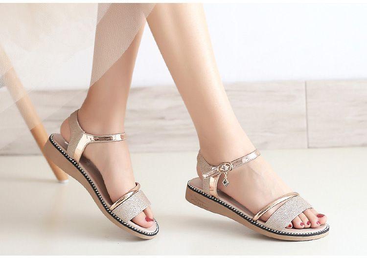 Compre Moda Verano Para Mujer Calzado Calzado Sandalias Para Mujer Tacón Bajo A $15.21 Del Joseph9806 | DHgate.Com