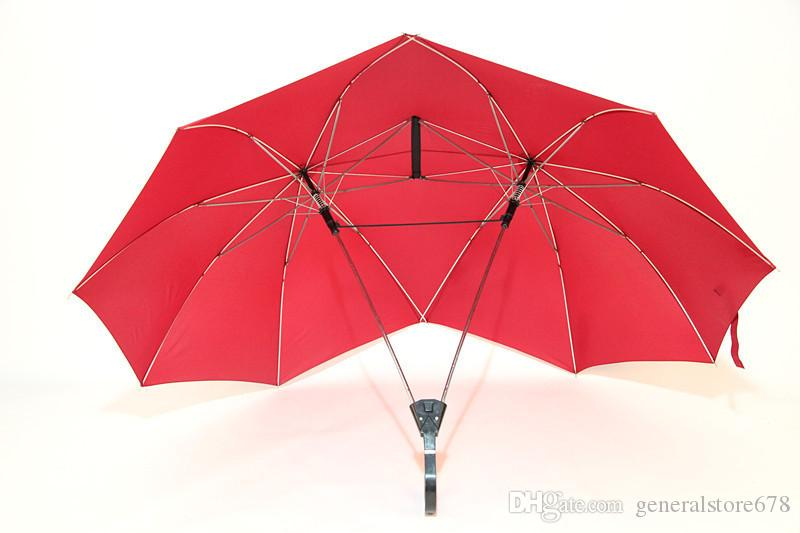Originality Lovers Umbrellas Individual Long Handle Double Top Wholesale J Hook Rainy Adults Long Handle Umbrellas