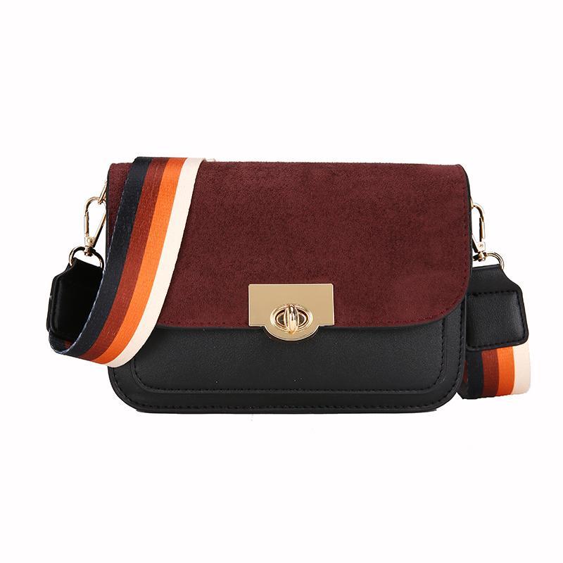 Bolso de un solo hombro de moda y casual de la señora PU bolsa de mensajero de moda Correas de hombro de moda y colorido Ms paquetes