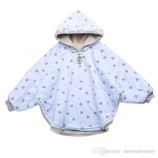 Reversible Baby Child Riding Hood Poncho Jacket Coat Comfortable 3 Color Sizes:M/ L