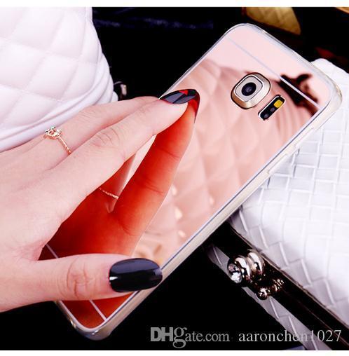 Luxury Glitter Mirror Soft Phone Cases On For Samsung Galaxy S8 S7 S6 Edge Plus Note 8 A3 A5 2016 2017 LG G3 G4 G5 V10 V20 Rubber Cover Case