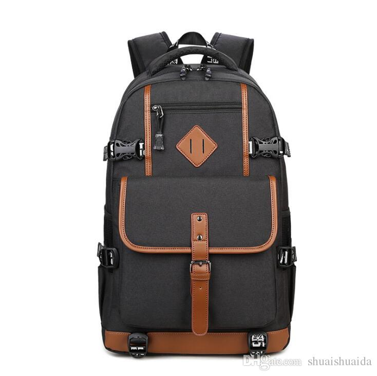 Wc-kYT Mens Fashion Trend Travel Large Capacity Backpack Waterproof Leather Simple Casual Bag for Outdoor Travel