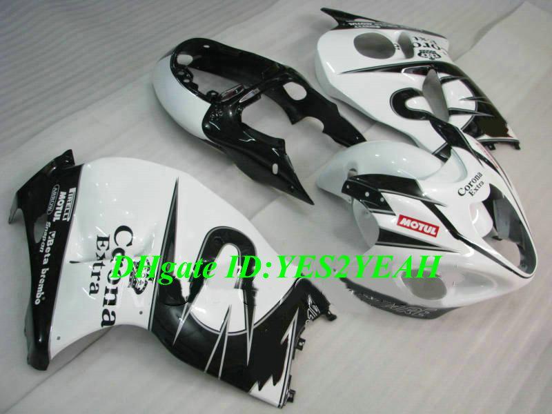 Литьевая форма обтекатель комплект для SUZUKI Hayabusa GSXR1300 96 99 00 07 GSXR 1300 1996 2007 ABS белый черный обтекатели набор+подарки SG01