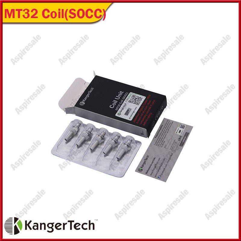 Kanger Einzelspulen SOCC Organic Cotton Coil Einheit MT32 Spule für Evod Protank Japanese Organic Cotton Docht Protank 2 Mini Protank 2 Evod