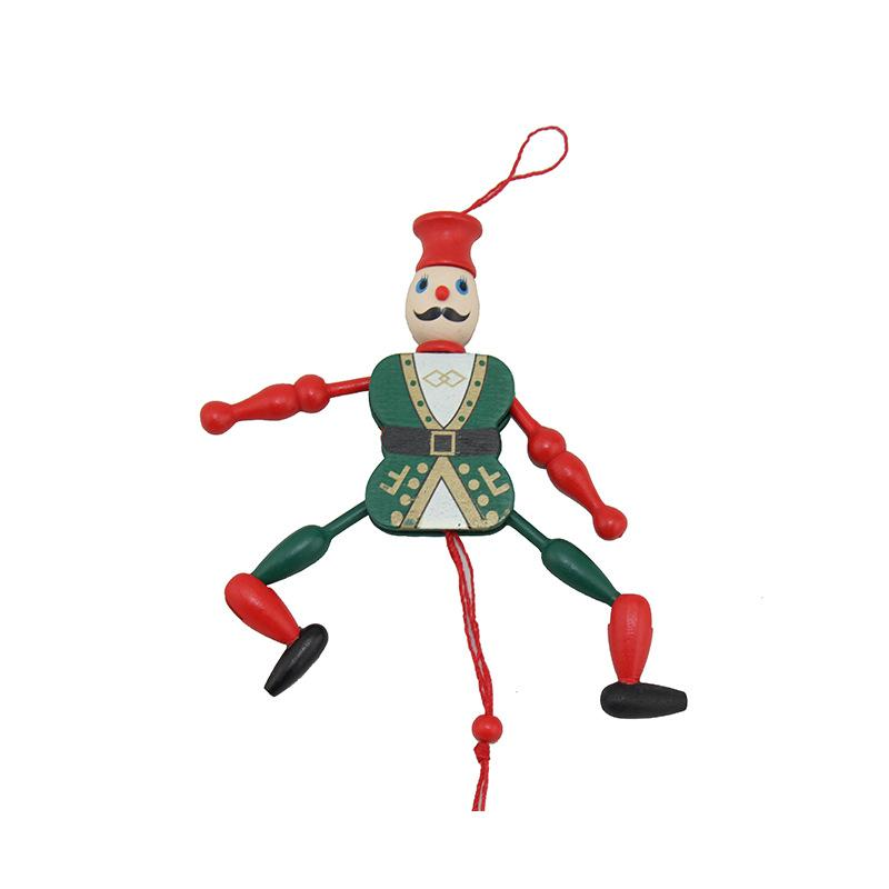 Wooden Pull String Puppet Tradition Toy Children Funny Marionette Classic Christmas Gift For Kids toys 1pcs Length 16cm