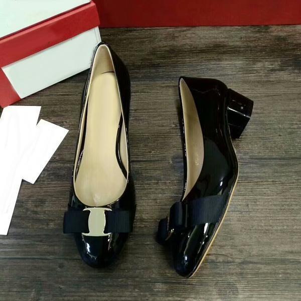 SMI11 5 Colores Marca Diseño Hebilla de Metal Arco Bowtie Tribunal de Patente Oficina Señora 4 CM Vestido de Tacón Bajo Bombas Zapatos de Las Mujeres Sz 35-41