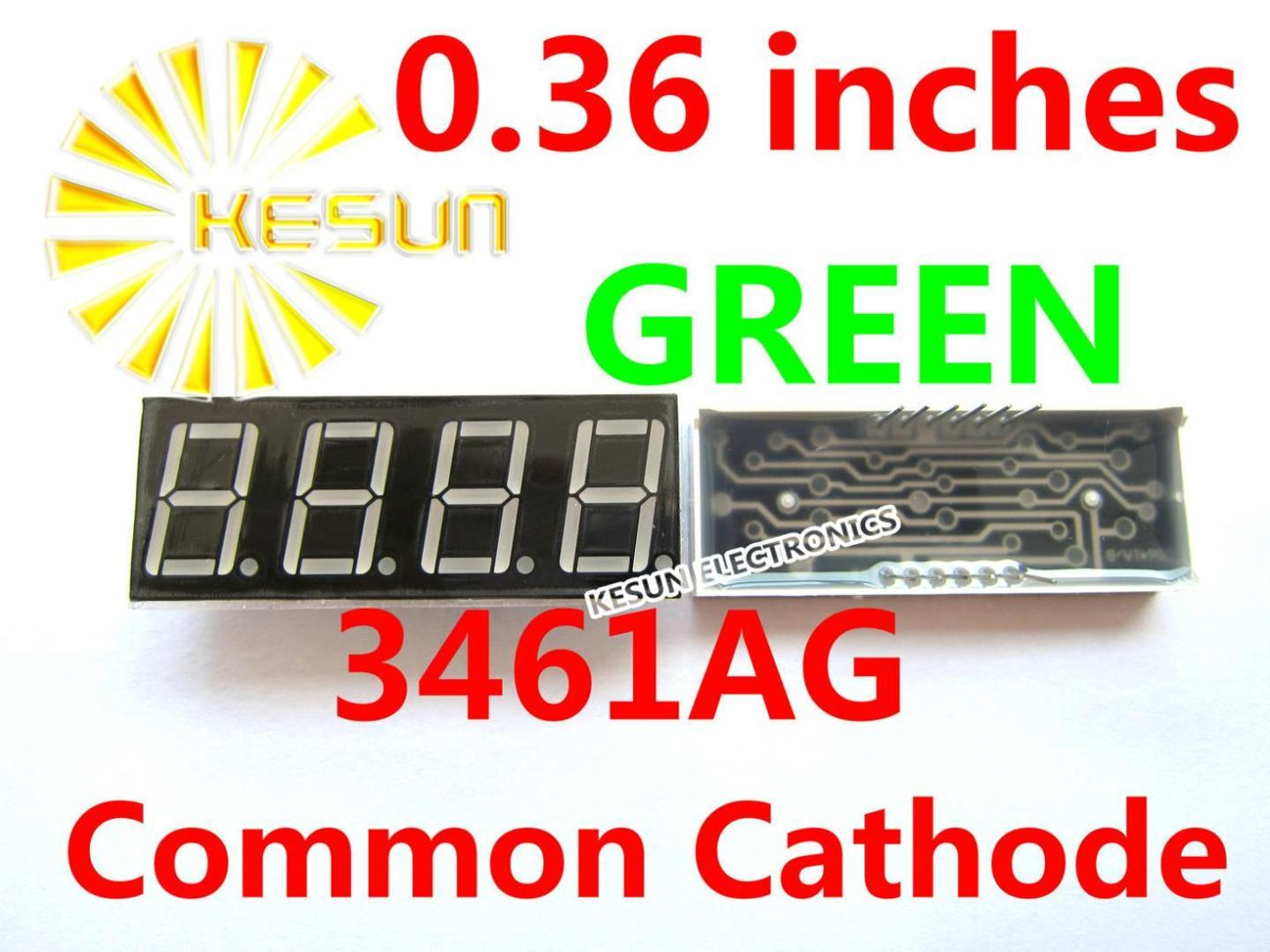 5PCS x 0.36 inches Green Red Common Cathode/Anode 4 Digital Tube 3461AG 3461BG 3461AS 3461BS LED Display Module Small Packet