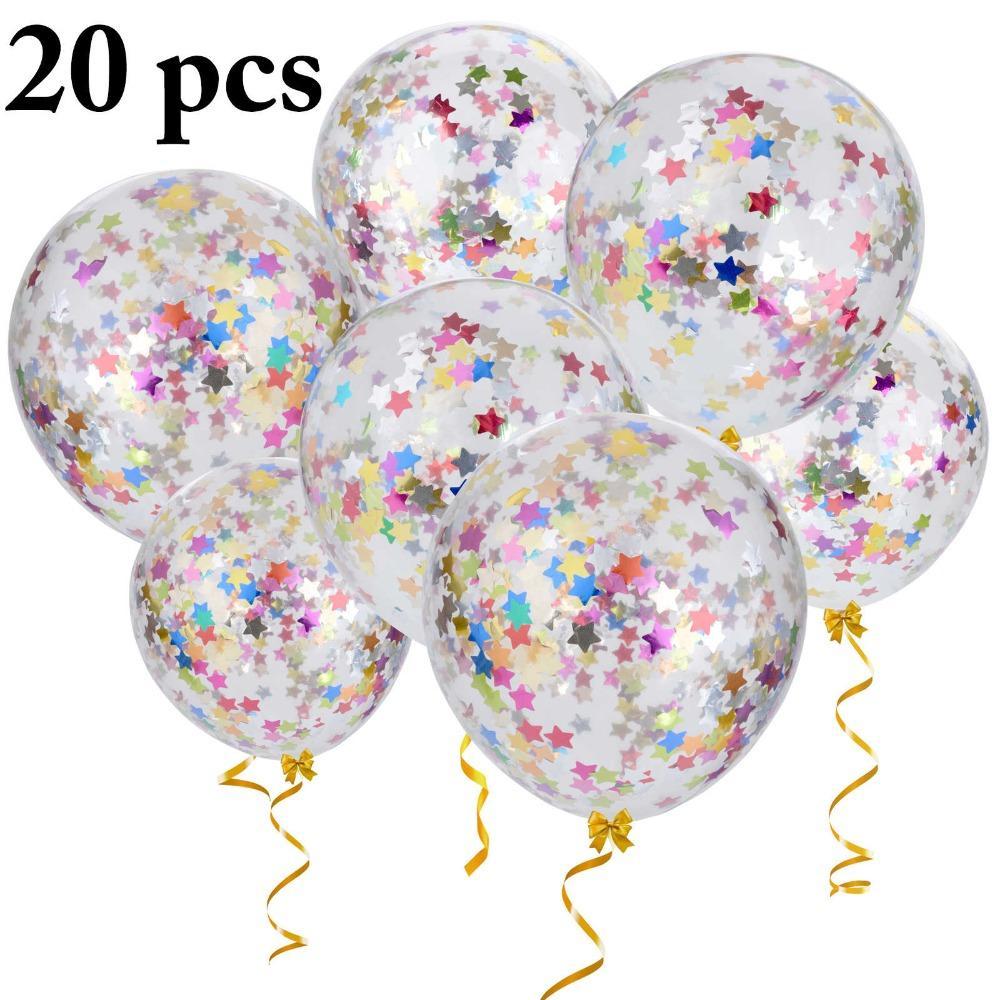 "20 x Confetti Balloons Latex 12/"" Helium Wedding Decorations Birthday Party UK-0"
