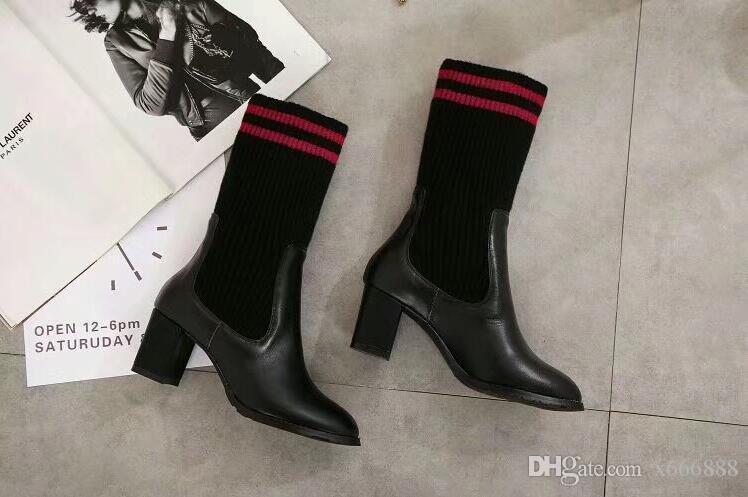 6 CM Kama Yüksek Topuklar Takozlar Kadın çizgili dizler kız lady çorap üç çubuk dizler yüksek tüp öğrenci çorap Yüksek Sıcak Pamuk Uyluk
