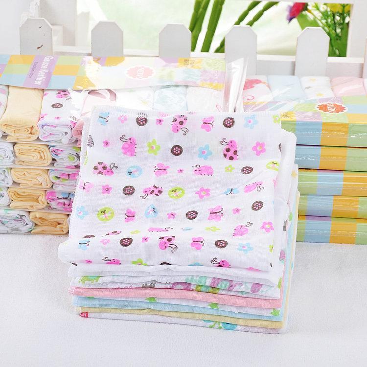 8PC / LOT del bebé handcraf Toallas pañuelo toalla del algodón del pañuelo