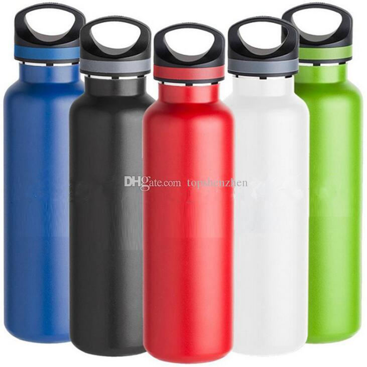 Water Bottle Portable Stainless Steel Sports  Straight Drink Bicycle Travel Cold