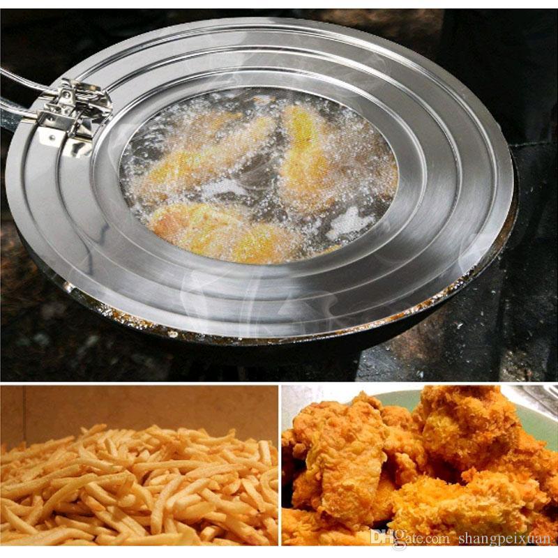 AISE Tamiz de Salpicaduras de Aceite de Acero Inoxidable tamiz de Salpicaduras de Grasa para sart/én Utensilios de Cocina de Tapa Herramienta de Cocina para cocinar Aceite Tapa