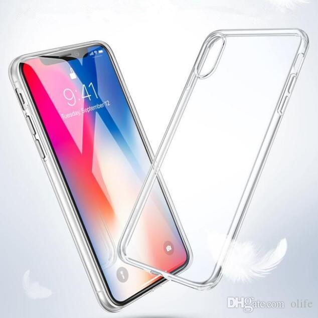 Novo ultrafino transparente macio tpu phone case gel tampa traseira de cristal para iphone x xs max xr 8 7 6 plus samsung s9 s8 nota 9