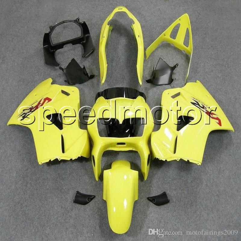 colores + Regalos amarillo 98-01 VFR 800 capota motocicleta Carenado para HONDA VFR800 1998 1999 2000 2001 Kit de plástico ABS