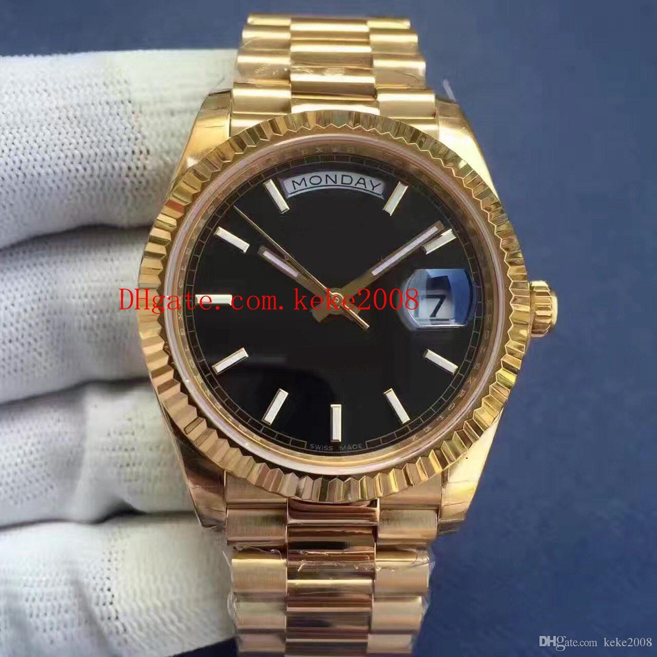 3 Cor de Luxo Melhor Relógio EW Fábrica V2 40mm 218399 228238 Presidente Dia-Date 18 K Ouro Aço Suíço CAL.3255 Movimento Automático Homens Relógios