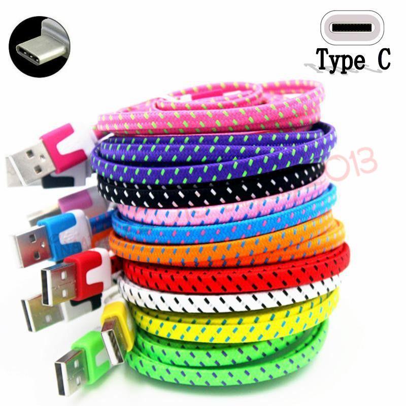 Micro V8 кабель плетеная ткань плоская лапша типа C USB-зарядное устройство кабель для Samsung S4 S6 S7 S8 кромки для LG G5 1M 2M 6FT 3M 10FT