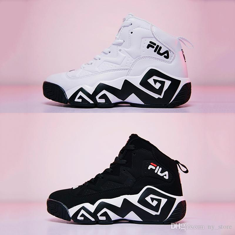 2018 Original Fila Classic Jamal Mashburn MB1 S Women Men FILE Special  Section Sports Sneaker Shoes F1XKW1202 Increased Shoes 36 45 White Mountain  ...