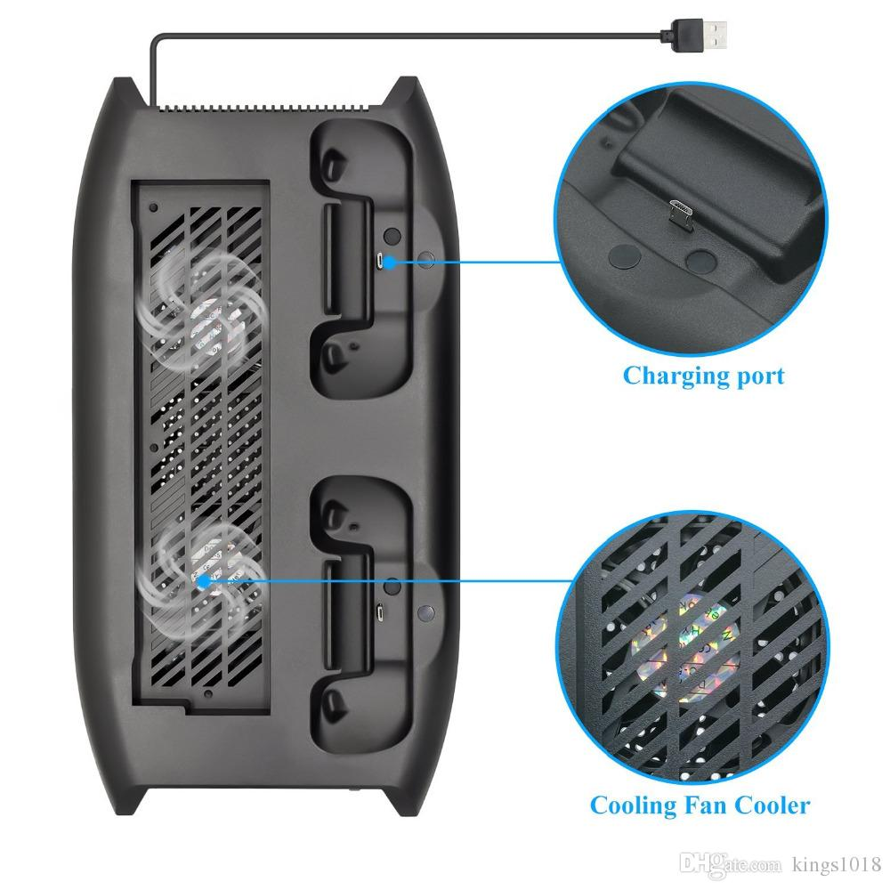 hot sale For Xbox One X ONEX Vertical Stand Cooling Fan with Game Discs Storage Tower Dualshock Charger, Controller Charging Station Gift