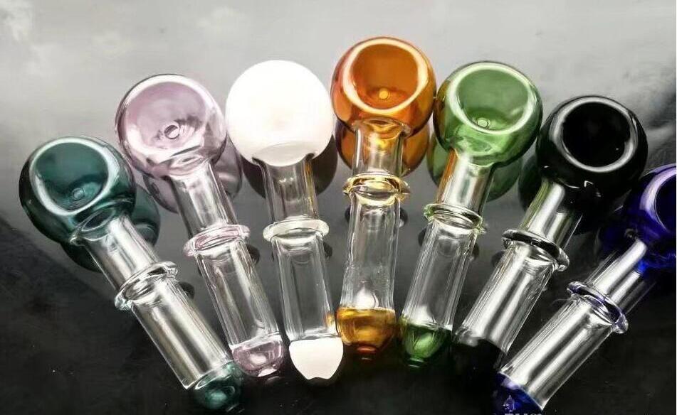Cacerola de color, Cachimba de vidrio al por mayor, Accesorios de tubería de agua de vidrio, Envío gratis FGTHH