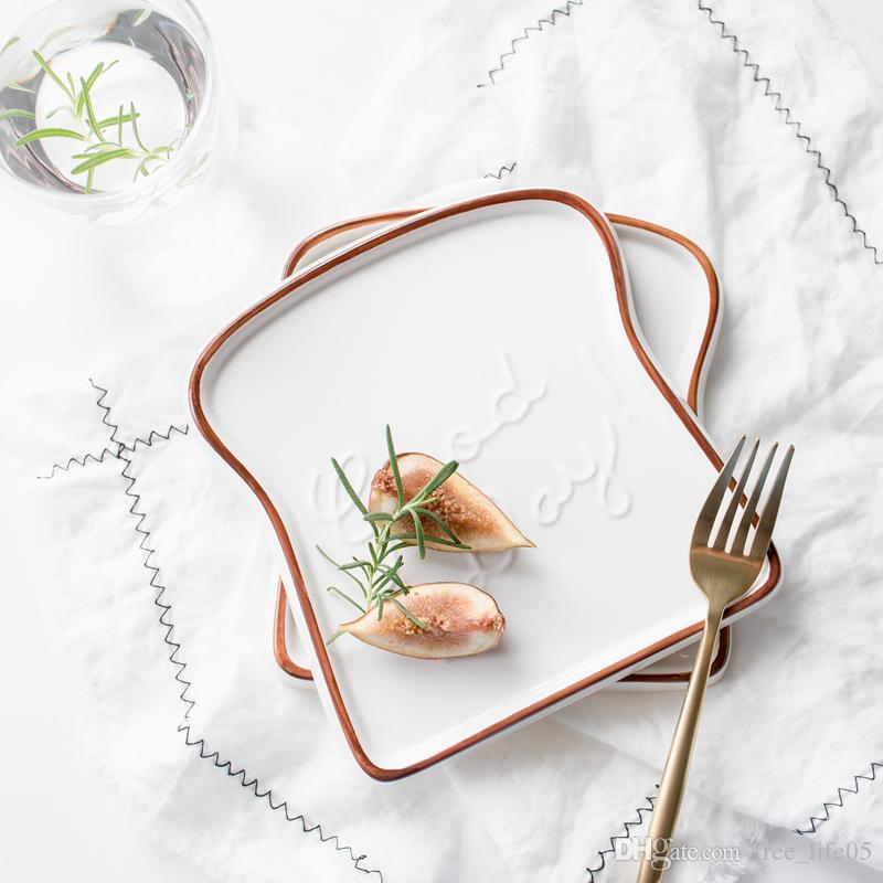 Ceramiczne Tosty Kształt Płyty Żywności Dania Boże Narodzenie Obiadowa Taca Nowy Rok Dekoracje Dekoracje Dania kuchenne Narzędzia