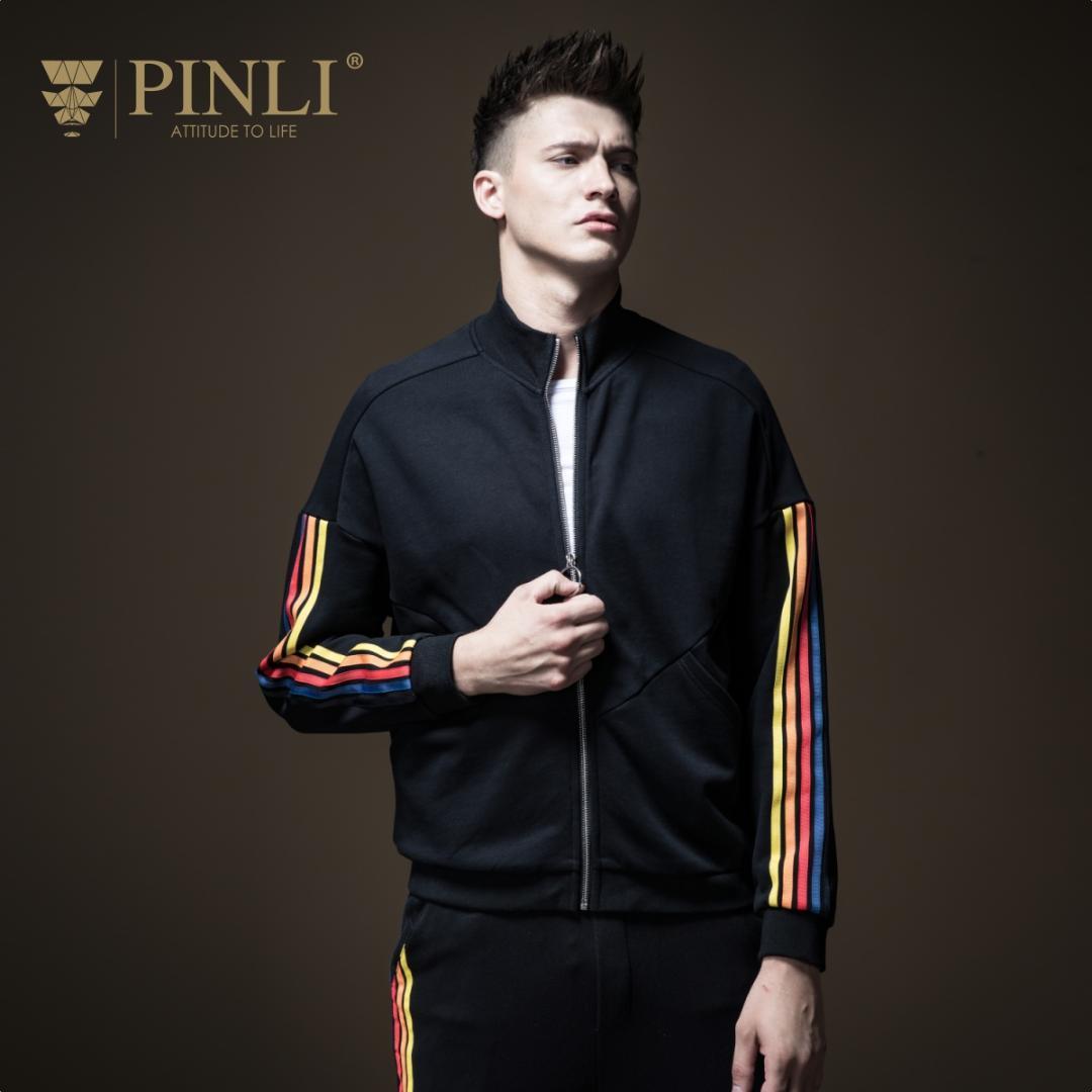 PINLI продукт сделал новую осень 2018 Мужская одежда воротник полоса b183104600 молодежь повседневная куртка пальто