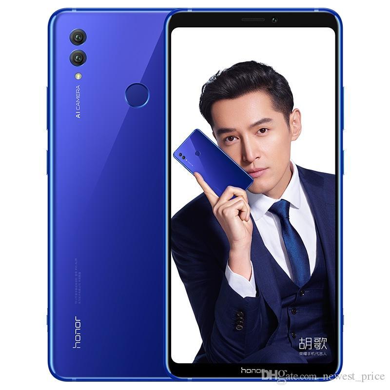 "Original Huawei Honra Nota 10 4G LTE Telefone Celular 6GB 128GB Ram Kirin 970 Octa Core Android 6.95 ""Amoled Tela cheia 24MP NFC 5000mAh Fingerprint ID Smart Pell"