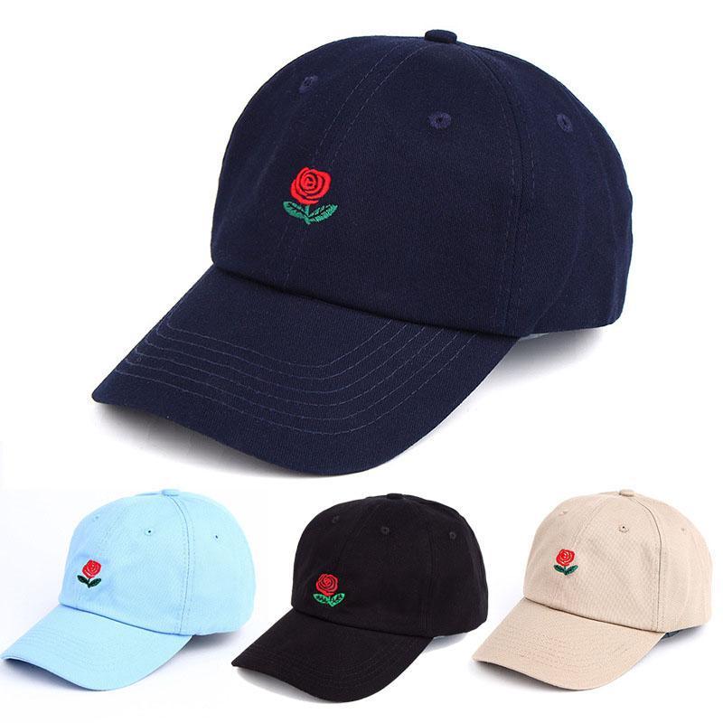 New Rose Baseball Cap Snapback Cappelli e berretti per uomo / donna Sport di marca Hip Hop Flat Sun Hat Bone Gorras Casquette da uomo economica