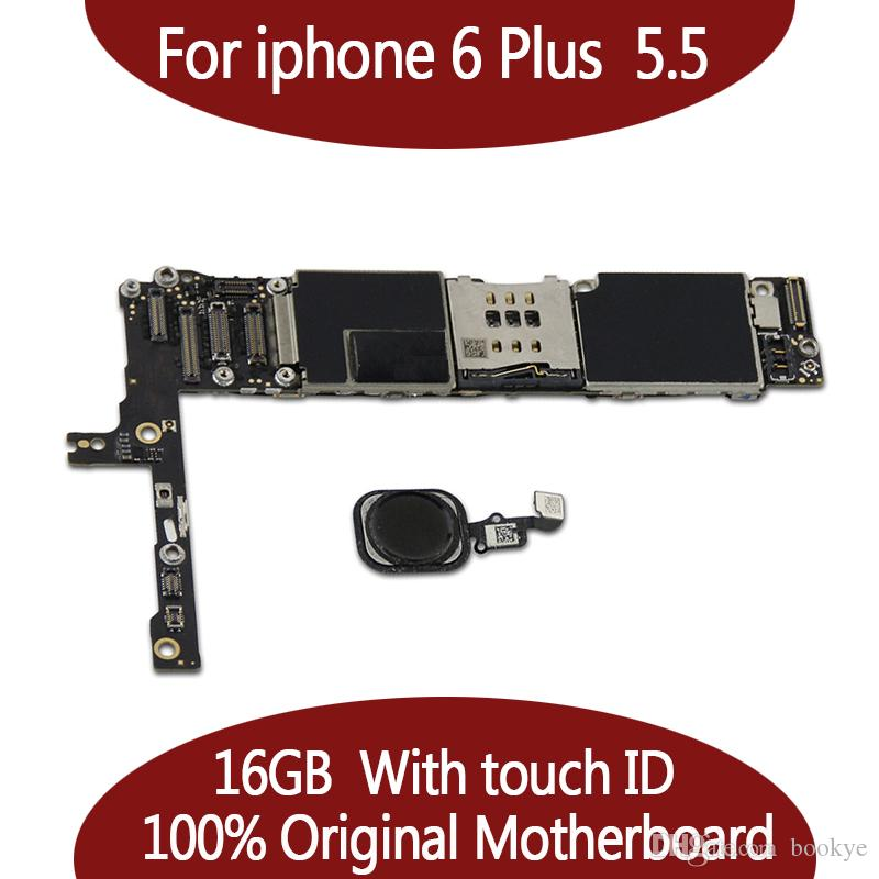 ل iPhone 6 Plus Mainboard 100 ٪ الأصلي مقفلة ل iPhone 6 زائد 16GB 64GB 128GB اللوحة الأم مع لمسة معرف وظيفة ذات نوعية جيدة.