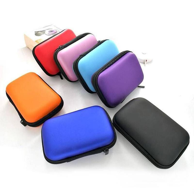 Portable Earphone Pouch Bag Case Card USB Cabel Earbuds Storage Carry Headset