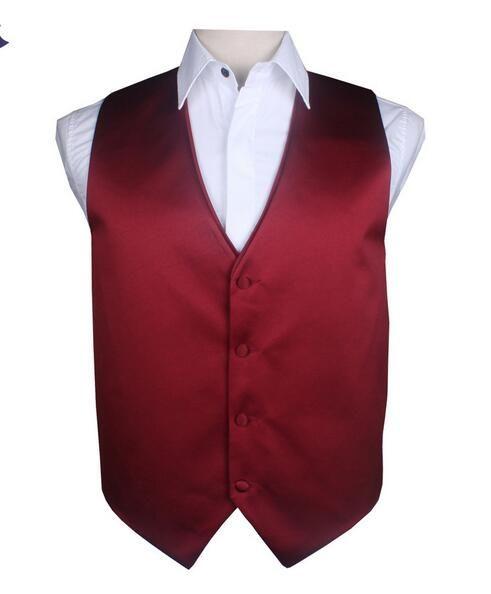 2017 wholesale custom made men vest Burgundy vest wine Red SILIVER Waistcoats Men's Sleeveless Jacket spring Suit