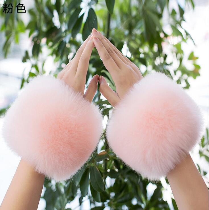 New product ladies winter warm furry cuffs imitation fur ladies clothing accessories imitation fur bracelet